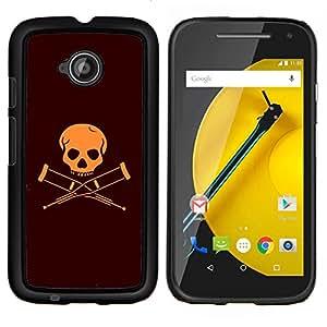 """For Motorola Moto E2 / E 2nd gen , S-type Discapacitados Bandera cráneo"""" - Arte & diseño plástico duro Fundas Cover Cubre Hard Case Cover"""