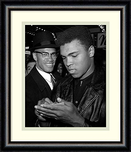 Framed Wall Art Print Muhammad Ali and Malcolm X, NYC, March 1, 1964 by McMahan Photo Archive 12.50 x 14.50 - Muhammad Ali Framed Photo