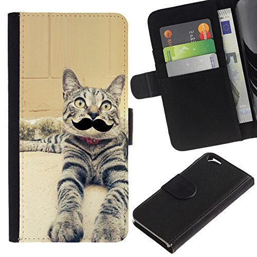 EuroCase - Apple Iphone 6 4.7 - egyptian mau serengeti moustache cat - Cuir PU Coverture Shell Armure Coque Coq Cas Etui Housse Case Cover