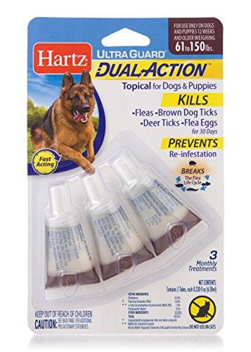 Hartz Ultra Guard Dual Action Drops for Dogs & Puppies, 61+ (Flea Guard)