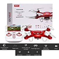SYMA X5UW Portable Phone Controlled RC Aerial Quadcopter Drone 2.4Ghz 6-Axis Gyro 720P HD Wifi Camera Real Time Transmission Headless Model 8-10 Minutes Flying Time 500mAH