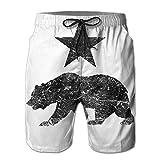 California Black Bear Summer Quick Dry Casual Shorts Boardshorts With Pockets