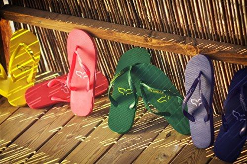 Yellow para Piscina Unisex Chanclas Mujer Atractivo Diseño Playa Hombre y y qvwwEY1