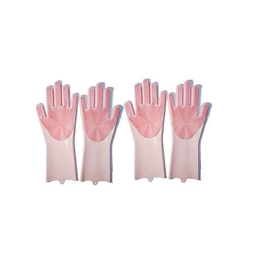 Sacudiendo los mismos guantes mágicos para lavavajillas, silicona ...