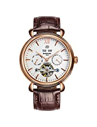 Perpetual calendar watch/Fashion openwork flywheel watch/Automatic mechanical watch-A