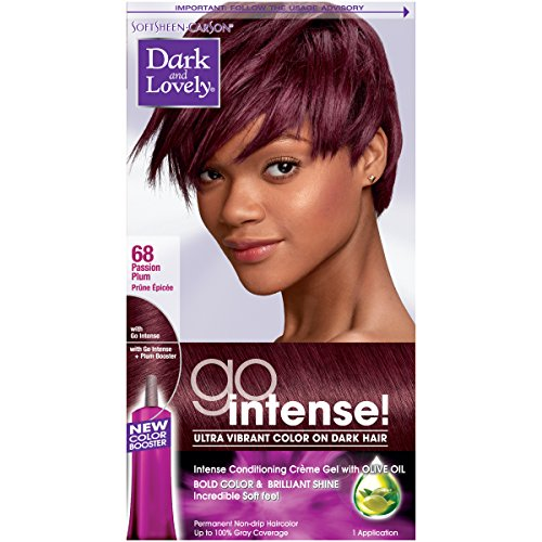 Dark and Lovely Go Intense! Intense Conditioning Creme Gel with Olive Oil, Passion Plum (Packaging May Vary) (Dark And Lovely Go Intense Passion Plum)