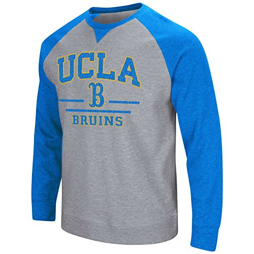 - Colosseum UCLA Bruins Mens Turf Fleece Crew Neck Sweatshirt-heather grey-large