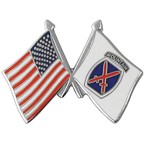 10th Mountain Division Flag Lapel Pin