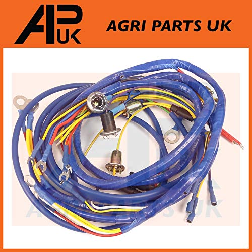 APUK Wire Wiring Harness Loom 4 Cylinder compatible with Fordson Power & Super Major Tractor: