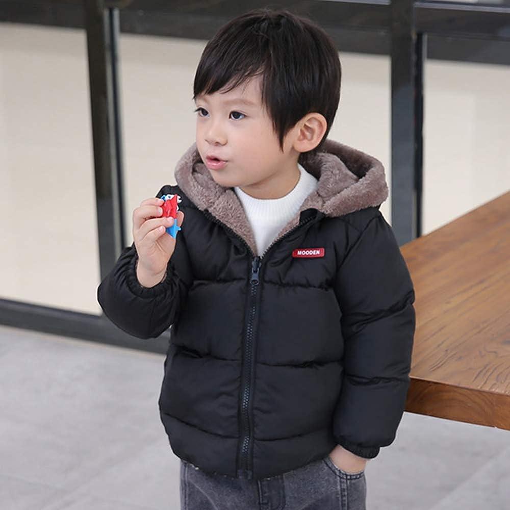 Baby Boys Girls Winter Puffer Down Jacket Kids Ear Warm Coat Thicken Cotton Hoodie Outwear Lightweight Windproof Jacket