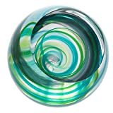 Caithness Glass U18039 Retro Green Vortex Paperweight
