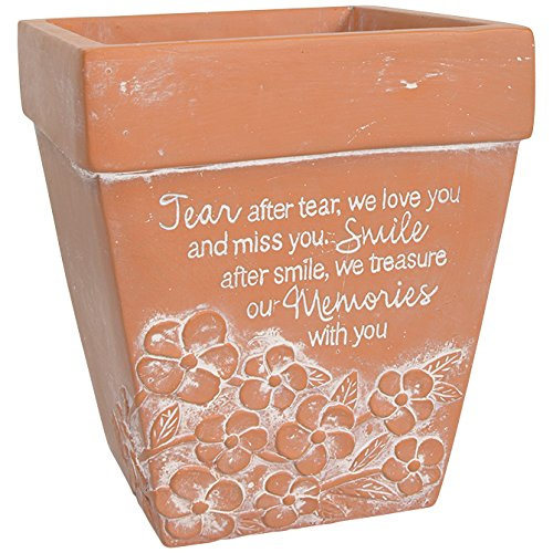 Carson Home Accents 11167 Memorial Planter Smile After Smile Outlet