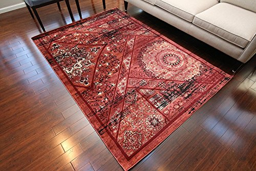 Feraghan/New City Salmon Traditional Antique Isfahan Wool Persian Area Rug, 2