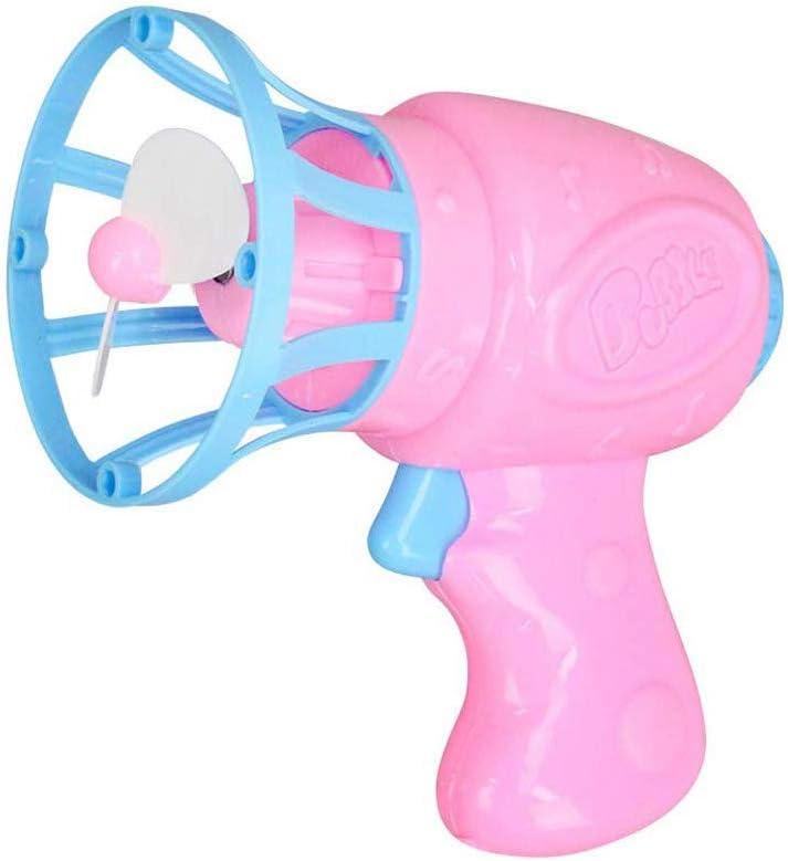 Amasawa Pistola de Burbujas de Ventilador, Pistola de Burbujas de Jabón, Máquina de Burbujas Eléctrica con Solución de Burbujas de Jabón para Fiesta de Cumpleaños, Halloween, Boda Niños Adultos