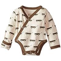 L'ovedbaby Unisex-Baby Newborn Organic Kimono Bodysuit, Gray Wagon, 0-3 Month...