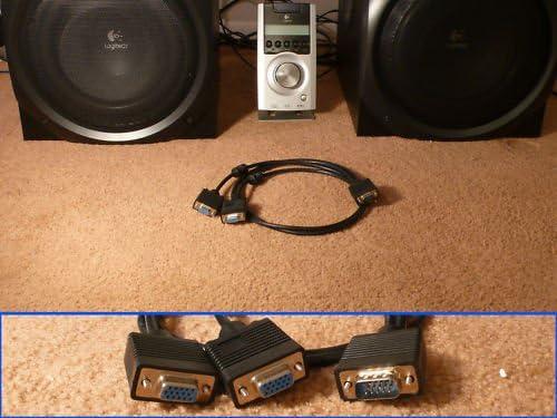SummitLink Control Pod Y Splitter Cable for Logitech Z-5500 Z5500 Dual Subwoofer System