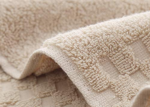 SUNLAND 100% Cotton Washcloths Extra Soft Fingertip Towels Highly Absorbent Face Cloths 6 Pack 13Inchx13Inch Light Brown by SUNLAND (Image #3)