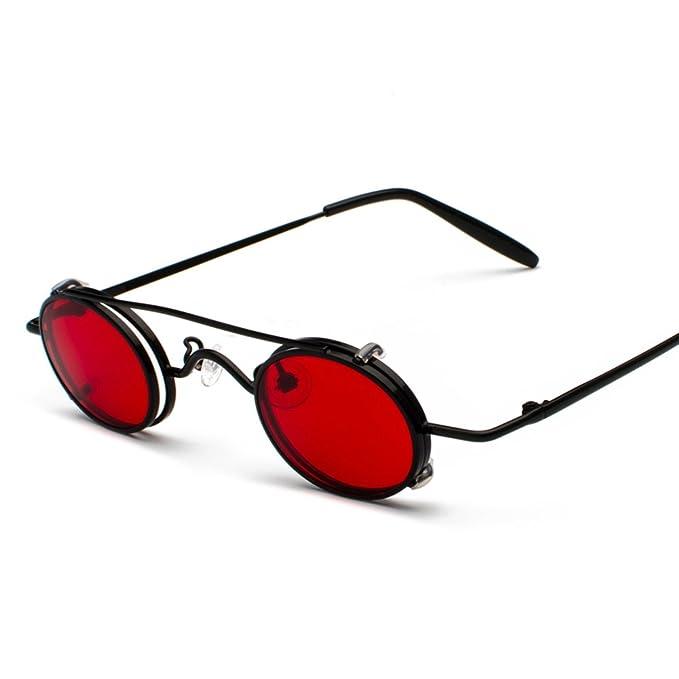Amazon.com: Tiny anteojos de sol Hombre Clip en redondo ...