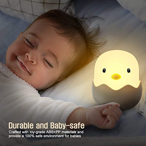 (Updated Version)Tecboss Night Light for Kids, Baby Night Light Touch Control Rechargeable Nursery Lamp Cute Chick Nightlights for Breastfeeding Kids Children Room by Tecboss (Image #1)