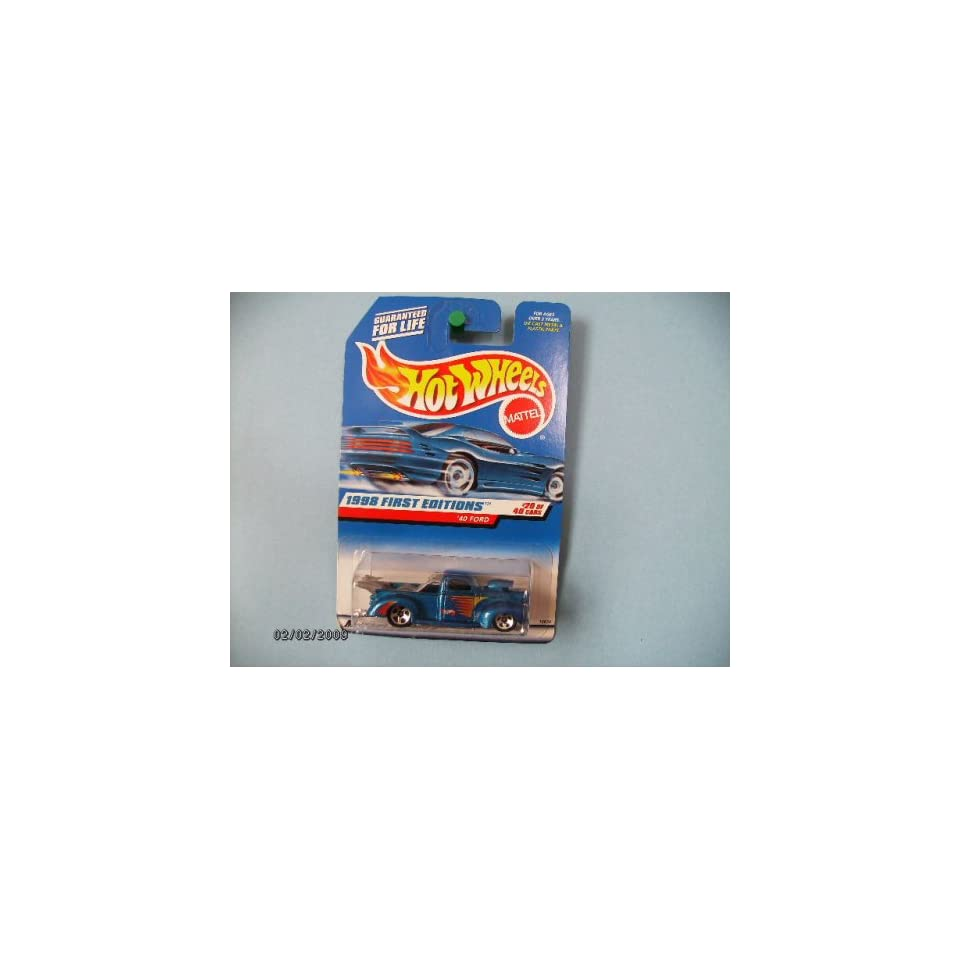 Hot Wheels 1940 Ford #20 of 40 Collector #654 Dark Blue with Chrome Base