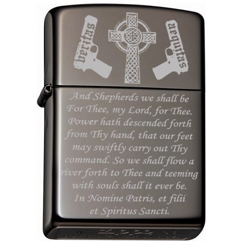 Boondocks Saints Prayer Zippo Lighter Black Ice.
