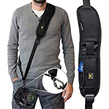Camera Strap,Camera Sling Strap with Quick Release Plate, Adjustable and Comfortable Neck/Shoulder Long Safety Tether for DSLR/SLR Camera (Nikon, Canon, Sony) Universal Belt