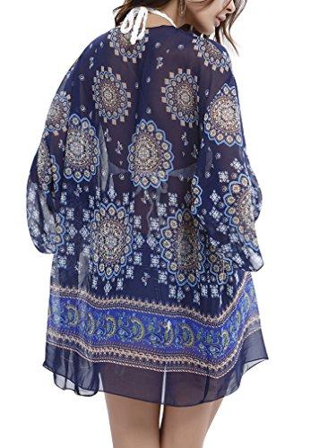PassMe Camisola Playa Mujer Verano Kimpno Cardigan de Gasa Camiseta Suelta Vestido de Playa Traje de Baño Cover Up Bikini Blusa Tops Casual: Amazon.es: Ropa ...
