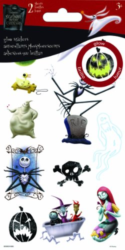 Sandylion Nightmare Before Christmas Dimensional Stickers, Glow in The ()