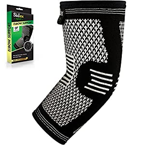 Elbow Brace Compression Sleeve - Arm Support for Tendonitis, Golf, Bowling, Tennis, Weightlift - Reduce Pain and Promotes Recovery!