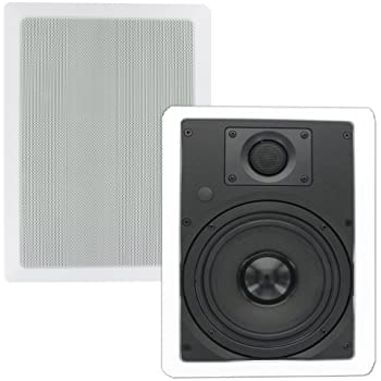 Theater Solutions TS65W 6.5-Inch Kevlar In Wall Speakers (White)