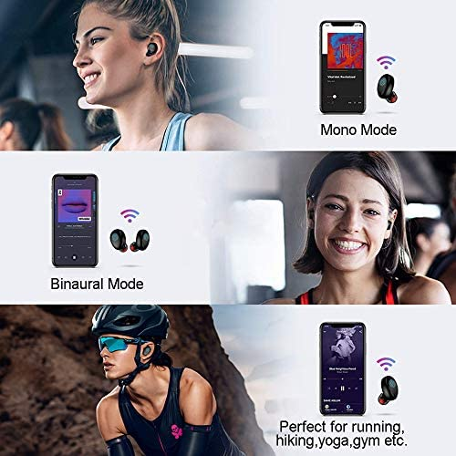 Wireless Earbuds, Chstarina Bluetooth 5.0 True in Ear Headphones, IP7 Waterproof 150H Playtime Noise Cancelling Wireless Earphone with 3500 mAh Charging Case, Stereo Sound TWS Headset for Sports