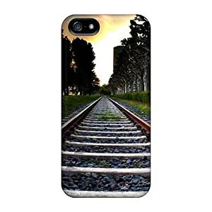 Durable Railroad Tracks Back Case/cover For Iphone 5/5s