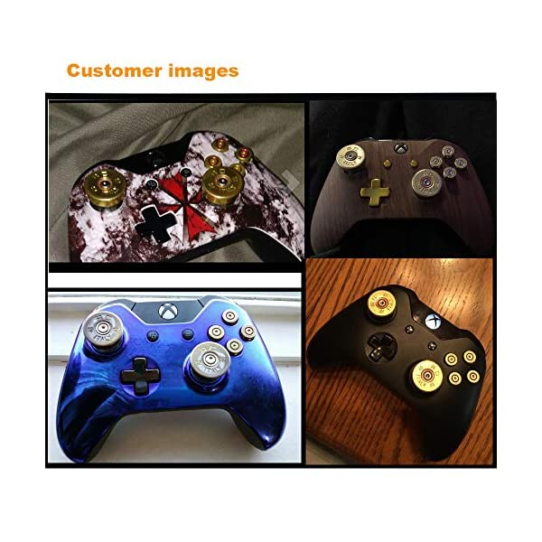 Bullet Buttons for Xbox One Controller, COCOTOP Raplacement Parts Bullet Thumbsticks and A B X Y Buttons Set Mod Kits… 6