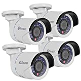 Cheap (4-Pack) Swann COSHD-B1080X4 1080p Indoor/Outdoor SDI Security Camera w/24IR LEDs & 115 Night Vision (White)