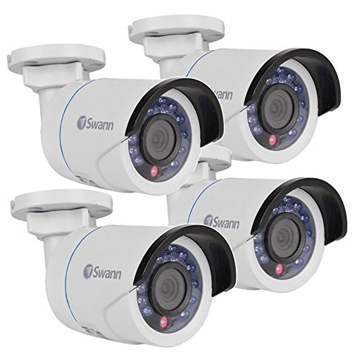 (4-Pack) Swann COSHD-B1080X4 1080p Indoor/Outdoor SDI Security Camera w/24IR LEDs & 115 Night Vision (White)