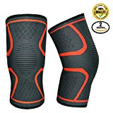 Knee Compression Sleeve Reepad Support Brace (1 pair) for Running Sports Jogging Basketball Workout Arthritis Meniscus Tear Joint Pain Relief and Injury Recovery - knee sleeve for man & women