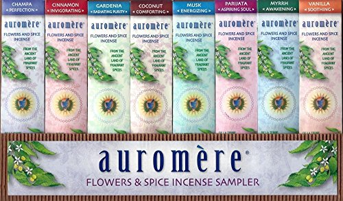 Auromere Flowers and Spice Incense Sampler