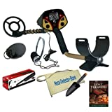 F2 Metal Detector Store Special Package W8″ Search Coil PLus 4″ Coil, Pinpointer, Headphones, Treasure Pouch, Treasure Trowel, Best Gadgets