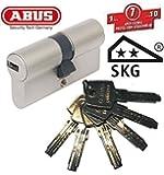 ABUS EC550 Cylindre de serrure (a/b) 45/45mm (c=90mm) avec 6 clés - SKG ** certifié