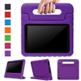 Surom All-New Fire HD 8 2017 Case,Kids Shockproof Convertible Handle Light Weight Protective Stand Cover Case for Fire HD 8' Display Tablet (7th Generation, 2017 Release Only), Purple