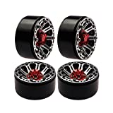 RC-Hub 4 Pcs Metal 1.9inch Beadlock 1/10 Scale Truck Rims Wheels Set FOR RC4WD SCX10 CC01