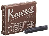 Kaweco Fountain Pen Ink Cartridges short, Caramel Brown (Brown), Pack of 6