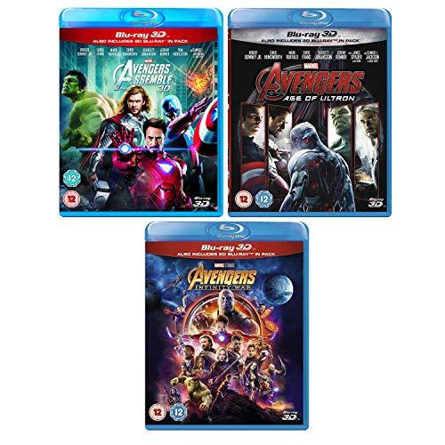 Avengers - (Assemble - Age Of Ultron - Infinity War) - Marvel Complete Avengers (3D + 2D) - 3 Movie Bundling Blu-ray