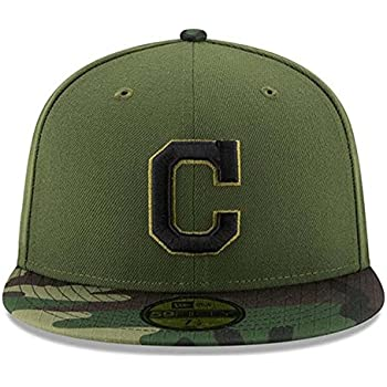 new concept 1ded8 2c52c 100% Authentic C logo Indians New Era Memorial Day 9Fifty Adjustable Hat -  Green Camo