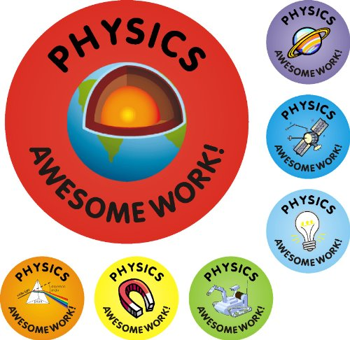 175 Physics Awesome Work Reward Stickers