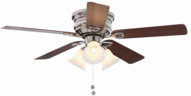Clarkston 44 in. Brushed Nickel Ceiling Fan with Light Kit (CF544PEH-BN) - The Home Depot