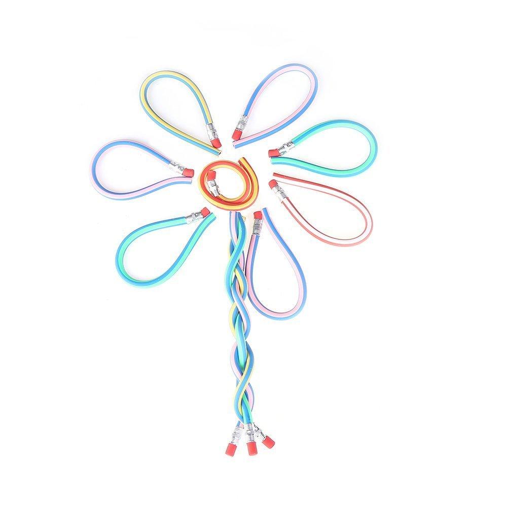 Bendy lápices, searchall hierros BENDY Flexible lápices de colores suave lápiz con goma de borrar Magic Bend para niños escuela divertido equipo Creative ...