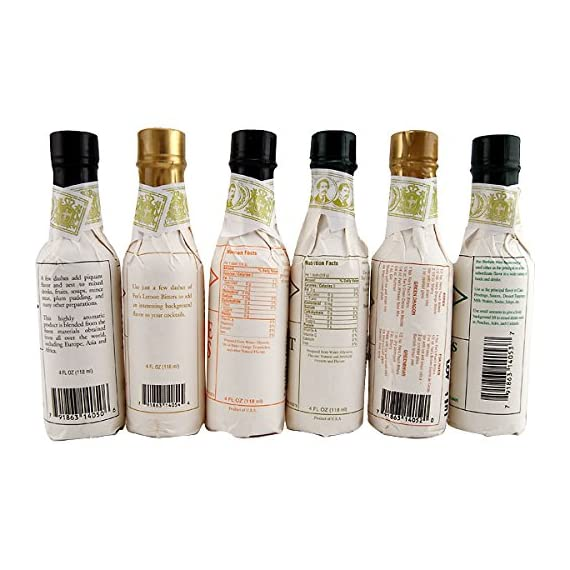 Fee Brothers Bar Cocktail Bitters - Set of 6 2 <p>There's no question that the folks at Fee Brothers know their bitters! The family owned company opened in 1863 and is currently in its fourth generation of manufacturing top quality cocktail mixes, bitters, syrups and other beverage ingredients. * This exclusive six-bottle sampler set gives you all of the incredible flavors you need to create innovative and exciting cocktails. With bottles of West Indian Orange, Peach, Lemon, Grapefruit, Mint and Old Fashioned Aromatic bitters in your arsenal of ingredients, you're always ready to raise the bar. * Specs - Size: 4 fl oz each. * Includes - (1) West Indies Orange Bitters, (1) Peach Bitters, (1) Lemon Bitters, (1) Grapefruit Bitters, (1) Mint Bitters, and (1) Old Fashioned Bitters. Made by Fee Brothers of Rochester, New York. Includes 6 hand selected bottles. Peach and West Indian Orange Bitters. Grapefruit and Lemon Bitters. Mint and Old Fashioned Aromatic Bitters.</p>