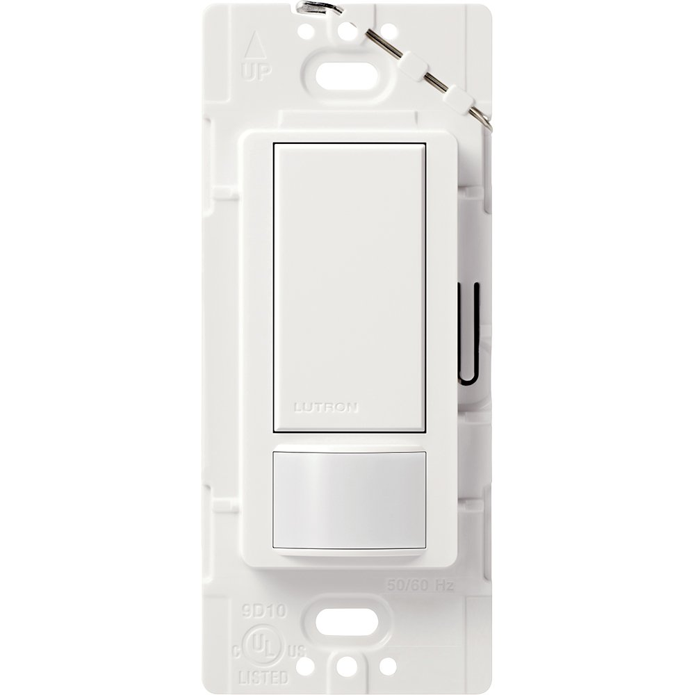 Lutron Maestro Sensor switch, 2A, No Neutral Required, Single-Pole, MS-OPS2-WH, White