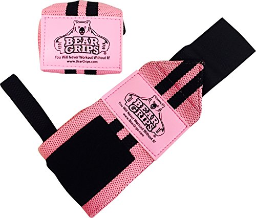 Bear Grips Support Workouts Powerlifting Pink